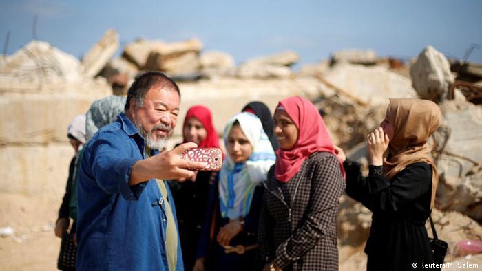 Gaza Chinesischer Künstler Ai Weiwei in Gaza