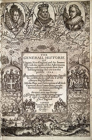"Cover of ""The Generall Historie of Virgin..."