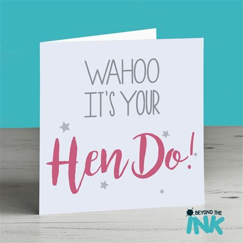 Wahoo It?s Your Hen Do! Hen Party Card   Beyond The Ink