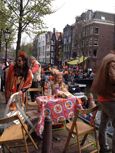 Queensday - in the street