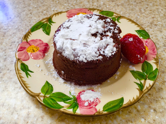 A Day of Small Things… Molten Lava Chocolate Cake