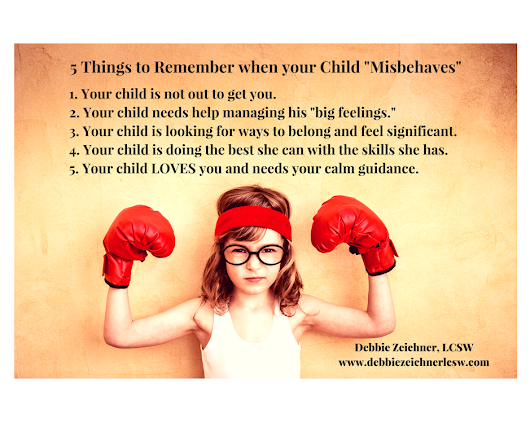 "5 Things to Remember when your Child ""Misbehaves"""