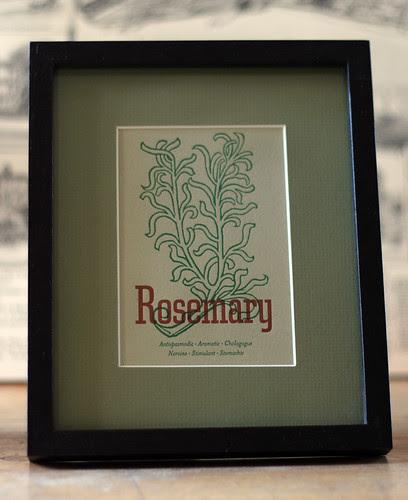 Rosemary card, framed