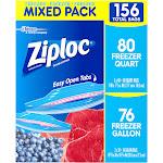 Ziploc Freezer Mixed Pack - 156 count