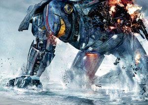 Artwork for Guillermo del Toro's sci-fi action film, PACIFIC RIM.