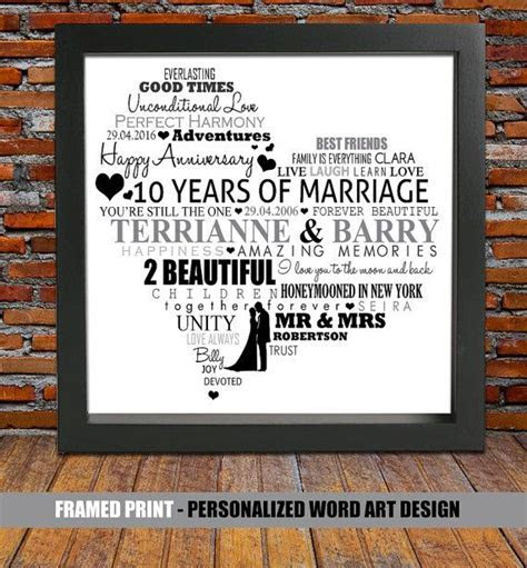 Personalized 10th wedding anniversary 10 year by