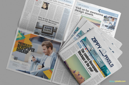 Free Beautiful Newspaper Ad PSD Mockup | ZippyPixels