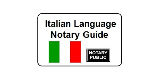 Italian Language Notary Guide - Notary Colorado Springs
