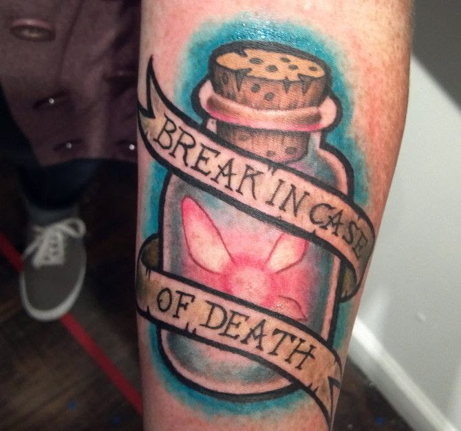 Bottle And Quote Tattoo Tattoomagz