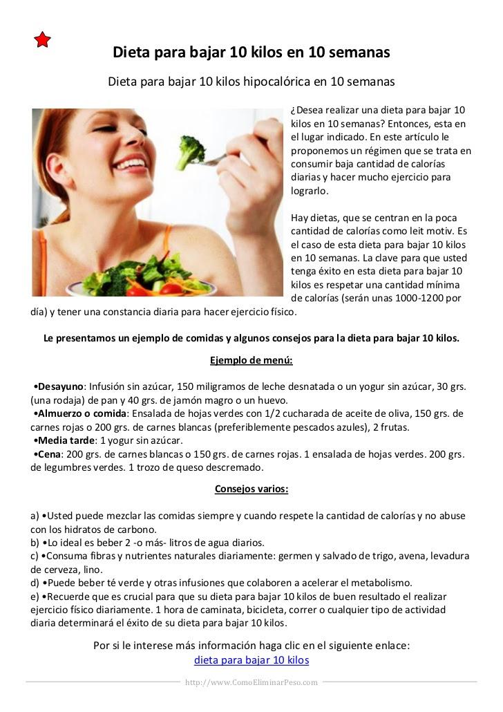Dieta para adelgazar en 1 mes 3 kilos