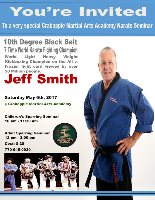 Crabapple Martial Arts Academy : Sparring Seminar with 7x World Champion Jeff Smith - Event Registration