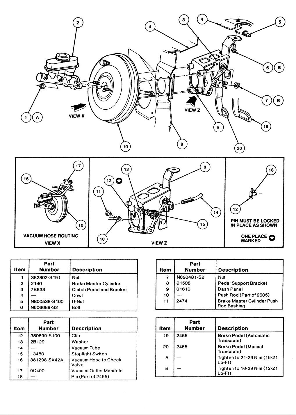 Brake System And Vacum Leak Taurus Car Club Of America Ford Taurus Forum