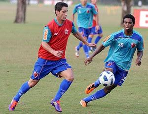 Thiago Neves e Luiz Antonio treino Flamengo (Foto: Alexandre Vidal / Fla imagem)