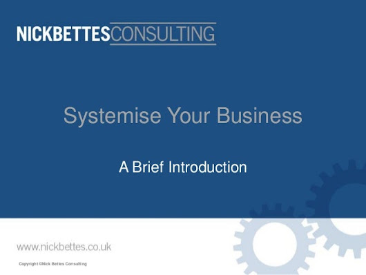 Business systemisation - brief overview