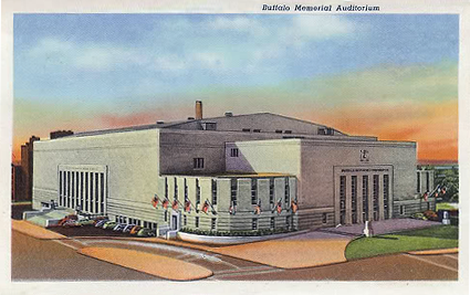 Buffalo Memorial Auditorium The Aud photo memorialauditoriumpostcard.png