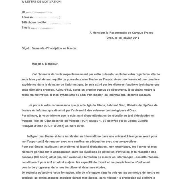 Lettre De Motivation Master 2 Recherche Droit Social Lettre F