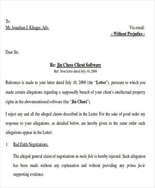 Unique Sample Response Letter to False Accusations | How ...