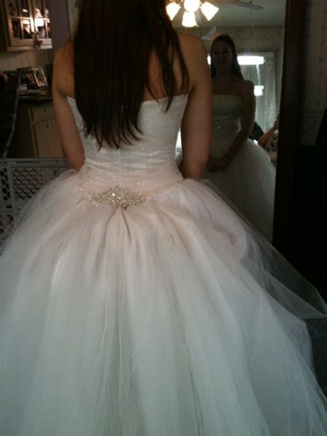 Bustle for a Tulle Dress   Weddingbee