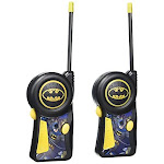 Batman Walkie Talkie 33482n Dc Comics Warner Brothers The Dark Knight - Styles May Vary Flexible Saftey Antenna & Morse Code With On/off Switch With
