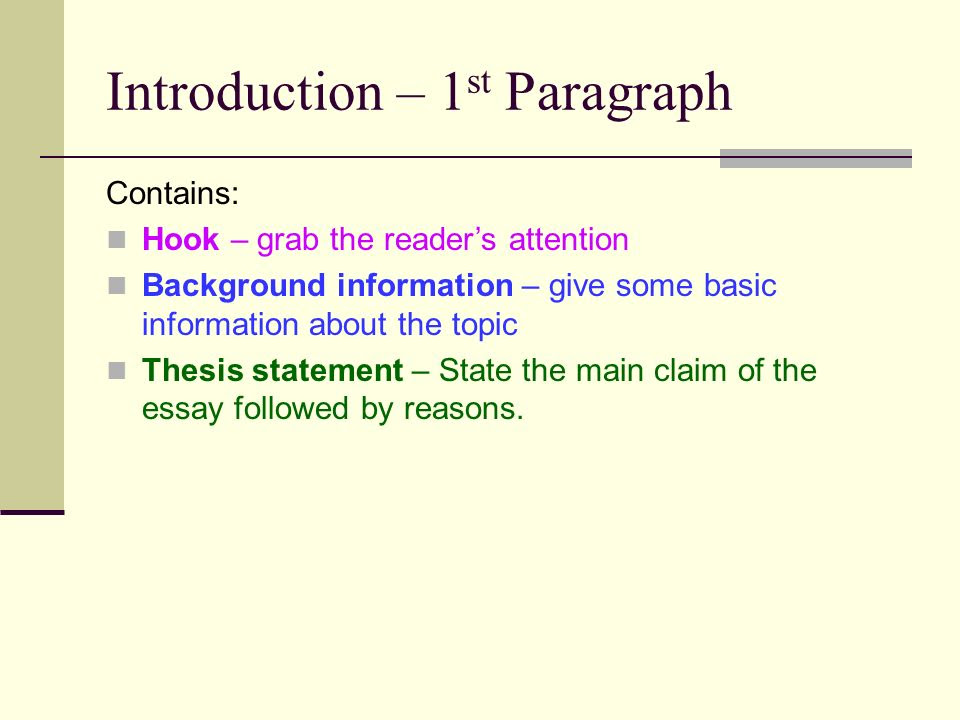 Hook Background Thesis Example - Thesis Title Ideas For College