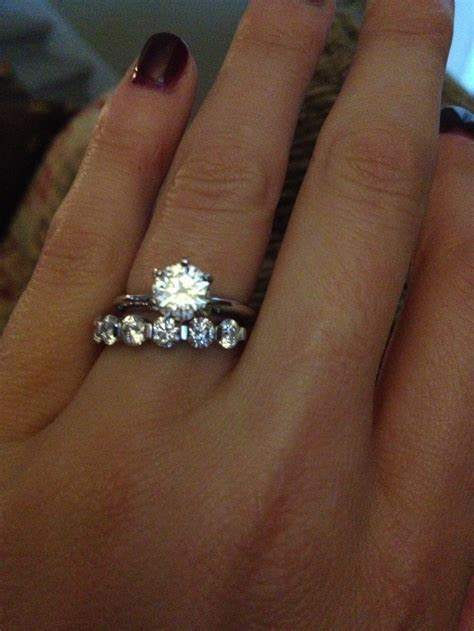 Simple Tiffany solitaire setting and 1.63 carat diamond