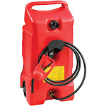 Scepter Flo N Go DuraMax 14 Gallon Portable Gas Fuel Tank Container with Pump by VM Express