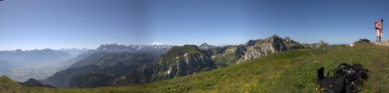 panorama from the top of Le Grammont