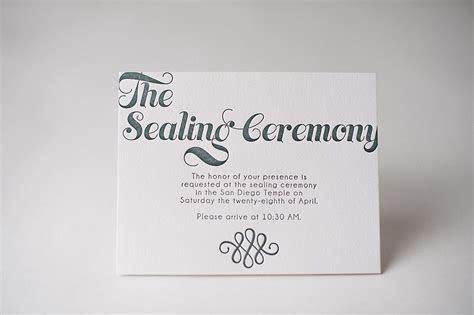 Invitation info cards, Sealing Ceremony, LDS wedding, LDS