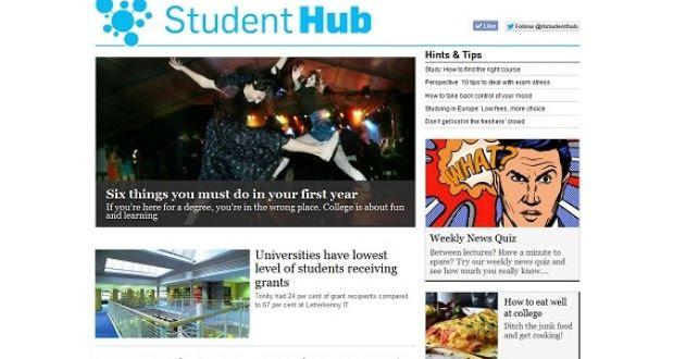 The Student Hub: The platform will feature articles written by students and Irish Times writers.