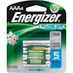 Energizer Recharge AAA Rechargeable Battery - 4 pack
