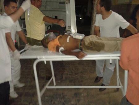 Tuta foi alvejado com dois tiros no Dois de Julho (Foto: Ubatã Notícias)