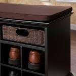 Wood Entryway Storage Shoe Bench with 3 Drawers Black | eBay
