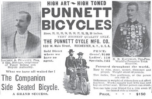Punnett Tandem Ad (1896)
