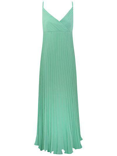 Buy Alexon Plisse Maxi Dress, Mint online at JohnLewis.com