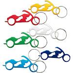 Keychain Bottle Opener - 12-Pack Motorcycle Bike Portable Beer Bottle Metal Openers For Wedding Party Favor In 6 Colors