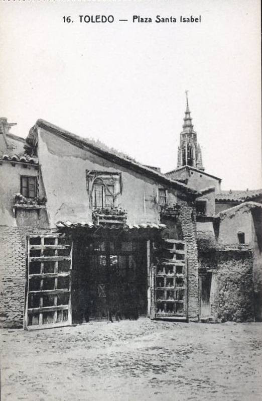 Catedral de Toledo vista desde la Plaza de Santa Isabel a inicios del siglo XX