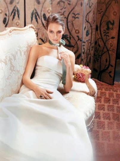 Rivini White Champange Silk Satin Sienna Aline Duchess