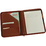 Royce Leather Zip Around Writing Genuine Leather Padfolio Brown 746-5