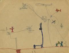 Childhood Superhero drawing