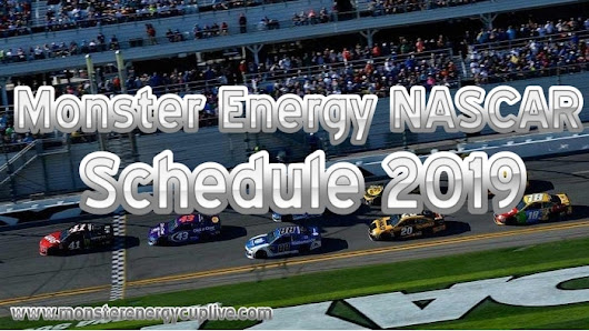 2019 Monster Energy Nascar Fixture