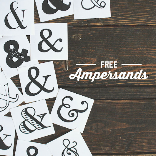 Font Must-Haves 005: Free Ampersands