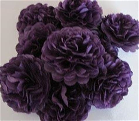 Plum Purple Button Mums Tissue Paper Flowers   Bickiboo