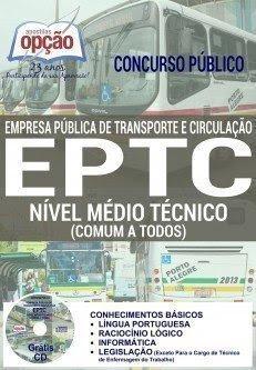 apostila Empresa Pública de Transporte e Circulação de Porto Alegre - EPTC 2016.