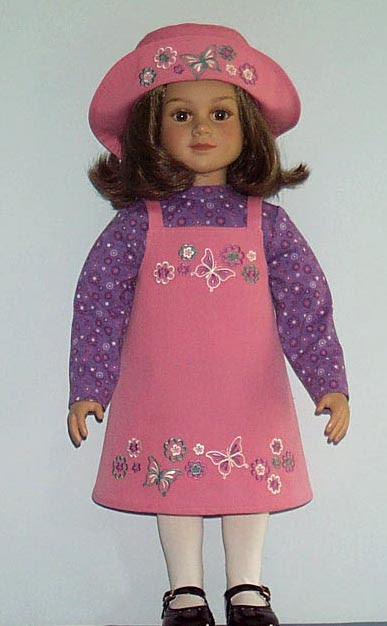 ABC: Embroidery Projects, butterflies doll dress