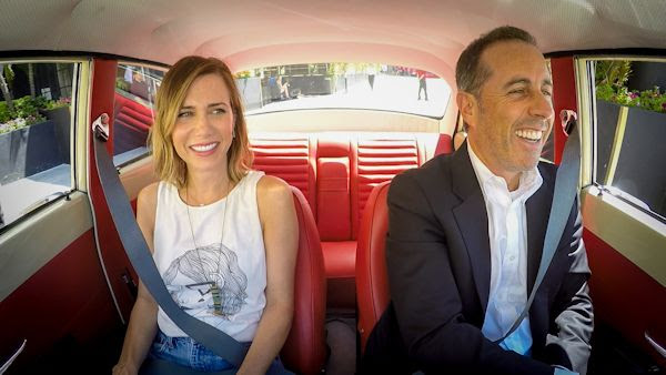 Kristen Wiig and Jerry Seinfeld