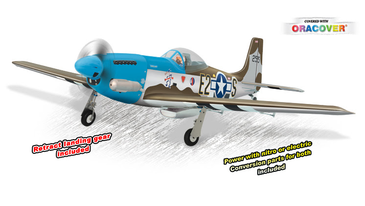 FMS P51 Mustang 1700mm 6Channel EPO Warbird Electric Retracts - P51