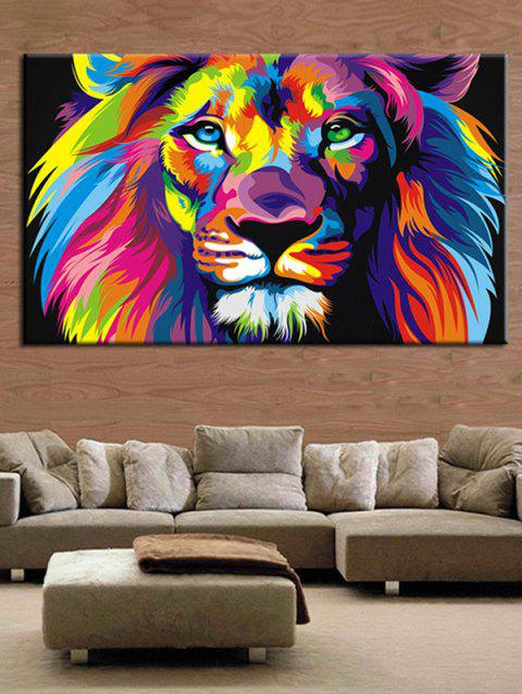 Colorful Lion Print Unframed Canvas Paintings