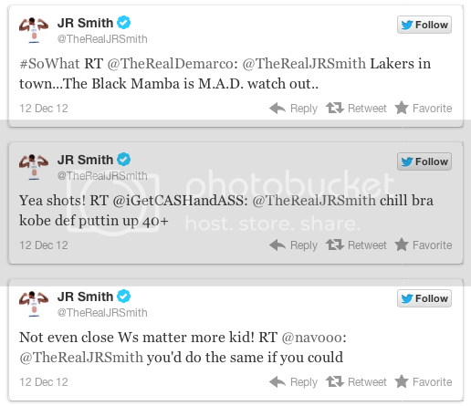 > JR Smith takes shots at Kobe - Photo posted in BX SportsCenter | Sign in and leave a comment below!