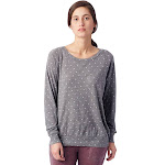 Alternative Slouchy Printed Eco-Jersey Pullover M Eco Grey Pin Dot , Alternative Apparel