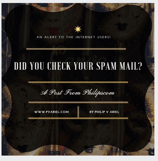 Google Sent You A Check! Did You Check Your Spam Mail Today? - Philipscom